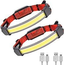 Led-hoofdlamp, oplaadbaar, USB-C, hoofdlamp, fiets met achterlicht, hoofdlamp, vissen, met rood licht, Pro camping, wandel...