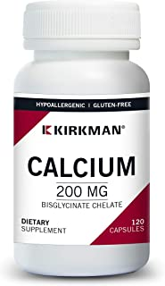 Kirkman Calcium Bisglycinate Chelate 200 mg   Without Vitamin D-3