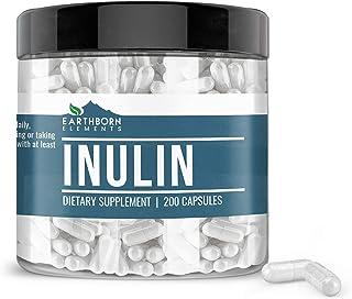 Inulin FOS, 200 Capsules, 1280mg Serving, Made from Jerusalem Artichoke, Non-GMO, Gluten-Free, 100% Pure & Natural, No Add...