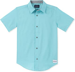 Boys' Horizontal Chambray Short Sleeve Shirt