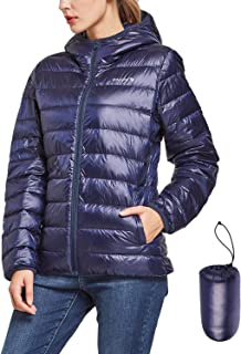 Women's Lightweight Packable Hooded Down Jacket Hoodies Winter Insulated Coat