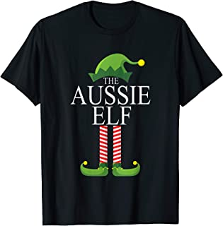 The Aussie Elf Family Matching Group Christmas Gift Funny T-Shirt