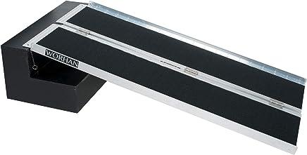 WORHAN/® 3.05m Rampe Alu Pliable Valise Aluminium Pour Fauteuil Roulant Chargement Scooter Plate-Forme Aluminium Anodis/é 305cm R10