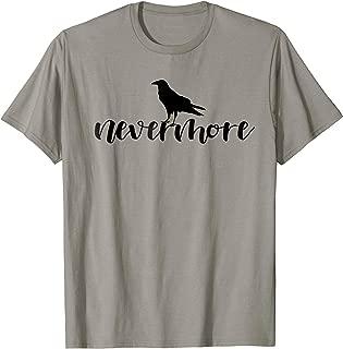 Edgar Allan Poe Nevermore Raven T-Shirt - Literary Lover