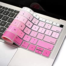 ProElife Pink Gradient Keyboard Cover Ultra Thin Silicone Keyboard Protective Skin for New Apple MacBook Air 13