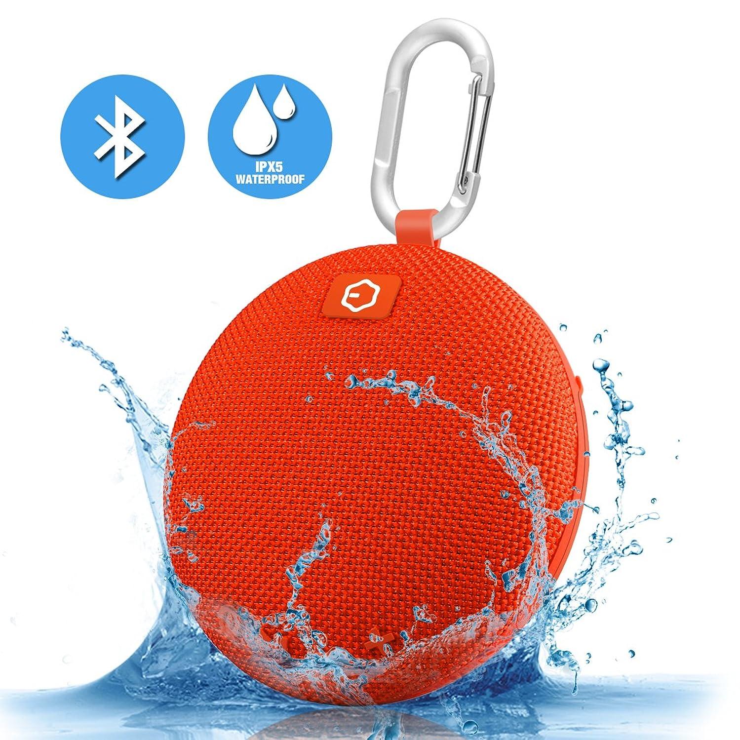 Portable Speaker,Ozzie Bass Stereo Bluetooth 4.0 Travel Outdoor Sport Speaker Waterproof Wireless Mini Bluetooth Speaker Indoor Shower Speaker for iPhone,Android (Orange)