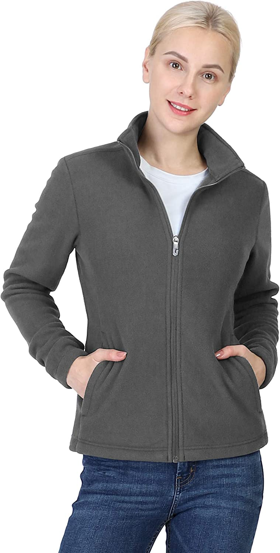 Outdoor Sale price Washington Mall Ventures Women's Lightweight Warm Zip Up Sof Long-Sleeve