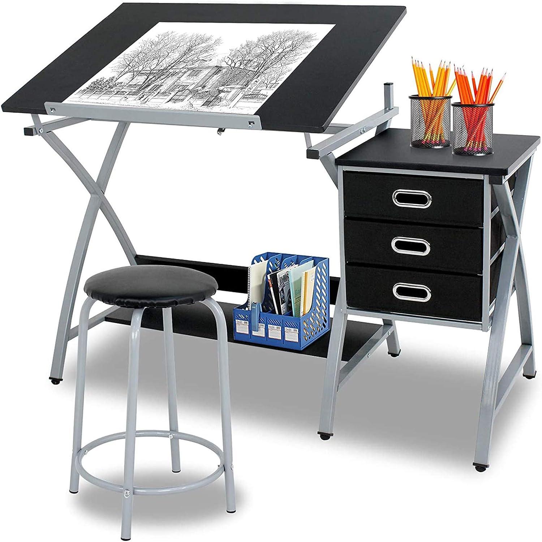 Adjustable MDF Drafting Table 2021 Art Hobby Drawing Desk Spasm price Craft
