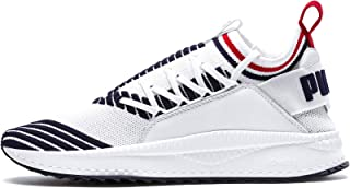 PUMA EVOLUTION TSUGI JUN Sport STRIPES Ayakkabı PWhite-Peacoat-RRed 42.5