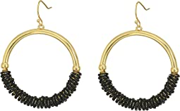 GUESS - Half Wrapped Hoop Drop Earrings
