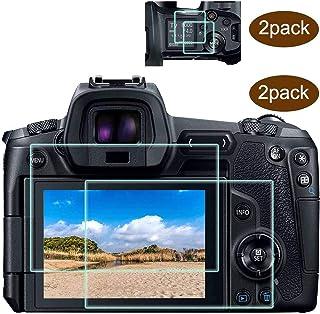 EOS R parte superior+protector de pantalla compatible con cámara Canon EOS R DSLR 2 unidadesULBTER 03 mmalta definicióndureza 9H vidrio templadoantiarañazos antihuellasantiburbujas3 unidades