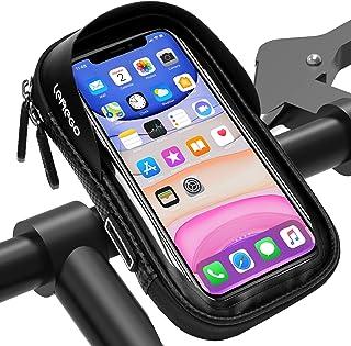 LEMEGO Bolsa Bicicleta Manillar para Ciclista Ciclismo, Bolso de Bici Impermeables Soporte Móvil Teléfono para Teléfonos M...
