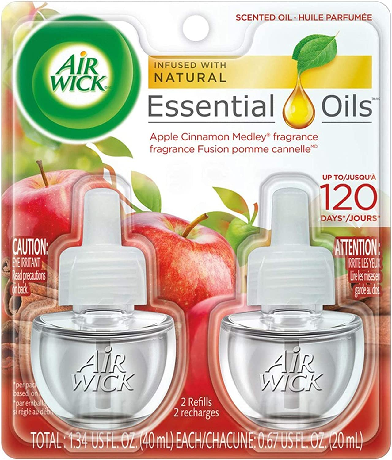 Air Wick plug in Scented Oil H Refills Medley 2 Cinnamon Apple Tampa Max 73% OFF Mall