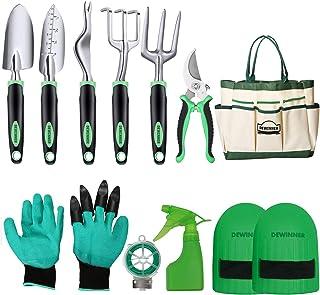 DEWINNER Garden Tool Set, Hand Tool Gift Kit, Outdoor Gardening transplanting for Gardener, with heavy duty hold bag for s...