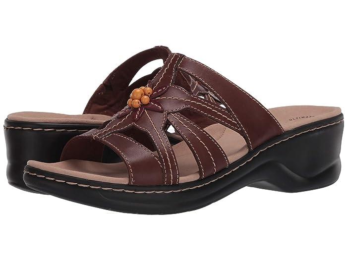 Vintage Sandals | Wedges, Espadrilles – 30s, 40s, 50s, 60s, 70s Clarks Lexi Myrtle 2 Brown Combi Leather Womens Shoes $84.95 AT vintagedancer.com