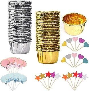 Nsiwem Caissettes Cupcakes Papier 100 Pièces moulle Cupcakes Mini Cas de Muffins moulle Mini Cupcakes Moules de Cuisson en...