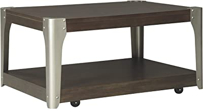 Ashley Furniture Signature Design - Geriville Rectangularside Table - Brown