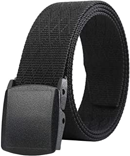 Belts for Men,Nylon Canvas Casual Belt with YKK Plastic Buckle, Durable Breathable Fabric Waist Belt for Work Outdoor Golf...