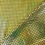 Schwarz/Gold Pailletten in Hologramm quadratisch American