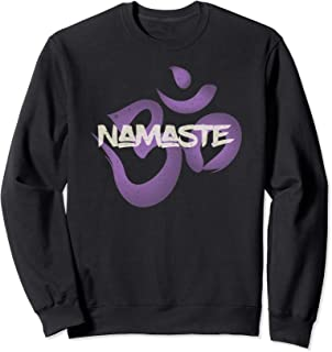 Namaste Purple OM Yoga Teacher Holistic Healer Reiki Master Sweatshirt