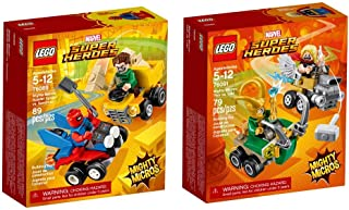 LEGO Super Heroes Micro Spider Man and Thor 2-Pack Bundle Building Kit (168 Piece) Stacking Toys (Renewed)