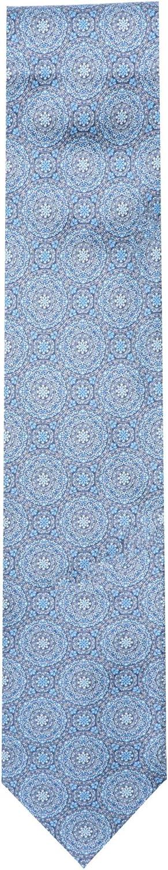 Italo Ferretti Men's Silk Flowers Inside Circles Printed Necktie