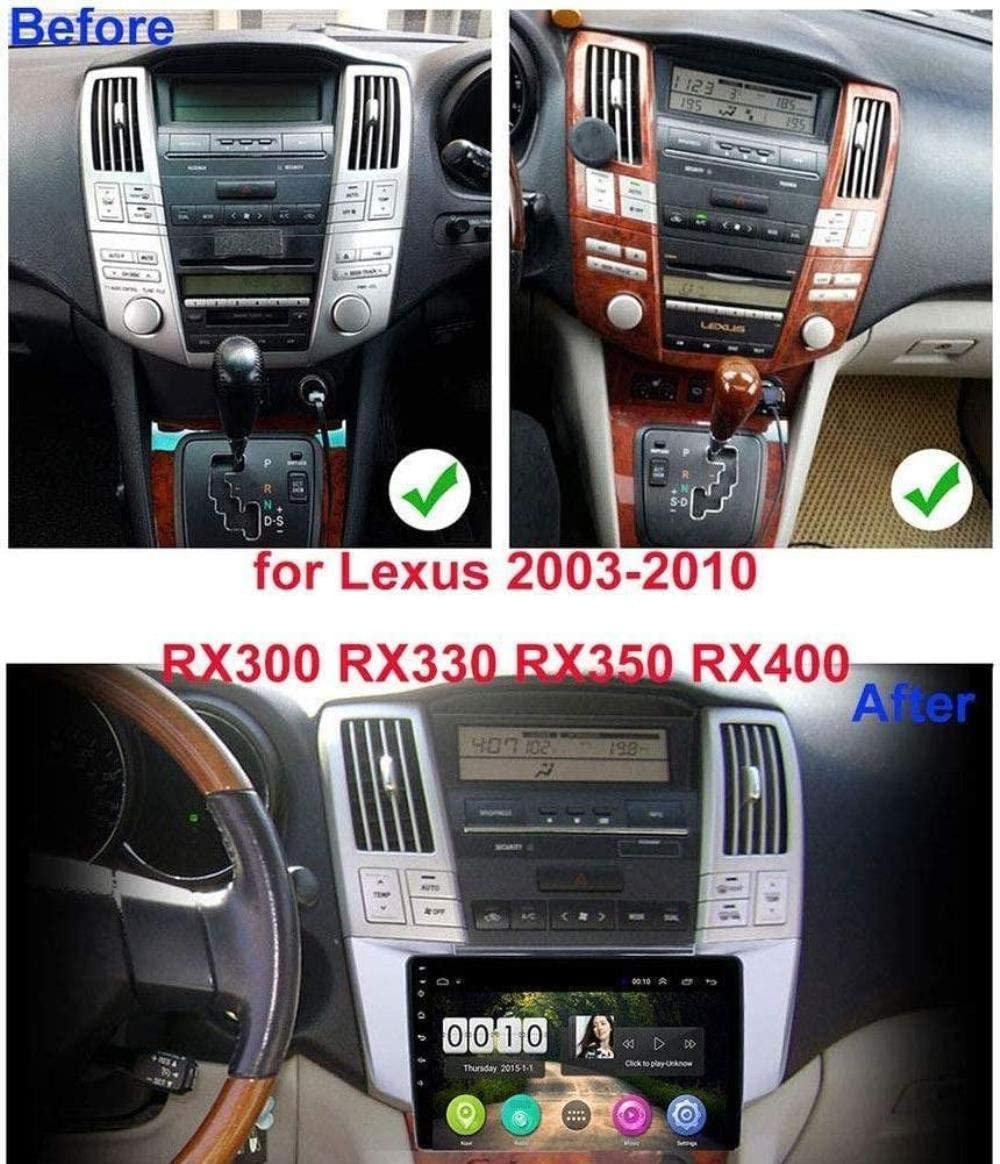 Car Stereo Android 8.1 for Lexus RX300 RX330 RX350 2003-2010 GPS Navigation 9