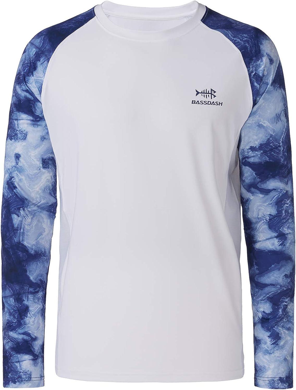 Bassdash UPF 50 Fishing Tee for Men Camo Long Sleeve Shirt Quick Dry Sweatshirts