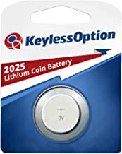 KeylessOption 2025 Battery Long Lasting 3v Lithium for Keyless Entry Remote Smart Key Fob Alarm Head Flip Keys CR2025