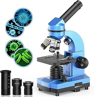 Emarth Science Microscope pour Enfants débutants, étudiants, 40 x 1000 x Microscopes composés avec 52 Kits de Sciences édu...