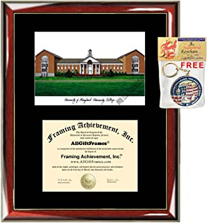 AllGiftFrames University of Maryland University College Diploma Frame Lithograph UMUC Graduation Degree Framing Plaque Holder Case Black Matted Graduate Gift