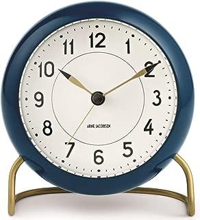 Arne Jacobsen Station Alarm Clock - Petrol Blue