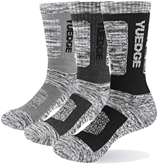 YUEDGE 靴下 メンズ ソックス 男性靴下 スポーツ アウトドア ウェア トレッキング ソックス 登山用靴下 抗菌防臭 吸汗速乾