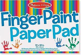 "Melissa & Doug Finger-Paint Paper Pad (12"" x 18""), Arts & Crafts, Top-Bound Pad, Glossy Paper, Nonabsorbent, 50 Sheets, 18"" H x 12"" W x 0.25"" L"