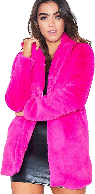 CHARTOU Women's Fluffly Insulated Open Front Fuzzy Faux Fur Shea