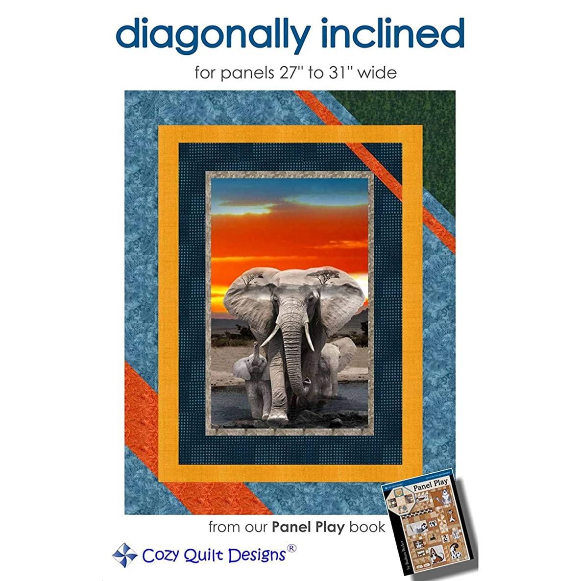 Cozy Quilt Designs CQD01198 Diagonally Inclined Pattern