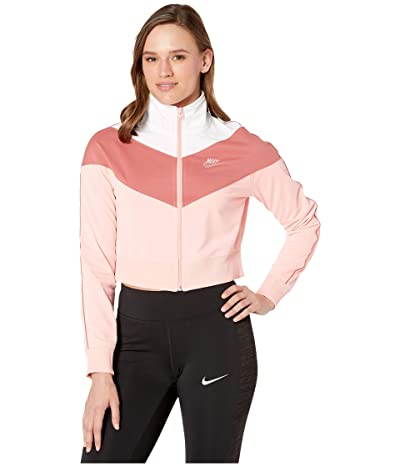 Nike NSW Heritage Track Jacket Poly Knit (Bleached Coral/Bleached Coral) Women