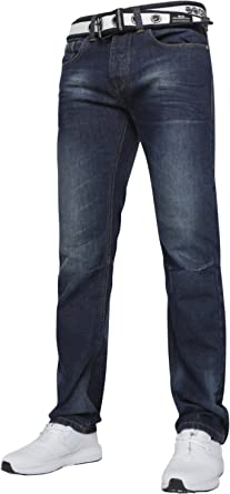 New Men's Crosshatch Straight Leg Jeans Small to King Size