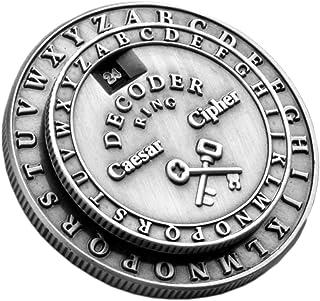 Retroworks Classic Caesar Cipher Medallion Silver Decoder Ri