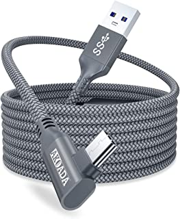 AkoaDa Oculus Quest 2 Link Cable 20ft/6M, Oculus Link Cable with Signal Booster, 90 Degree Angled High Speed Data Transfer...