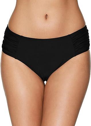 363716ad72ec5 beautyin Women's Retro High Waisted Bikini Bottoms Swim Briefs Swimsuit  Shorts