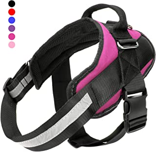 Bolux Service Dog Harness, Easy On and Off Pet Vest Harness, 3M Reflective Breathable and Easy Adjust Pet Halters with Nylon Handle for Small Medium Large Dogs - No More Pulling, Tugging or Choking