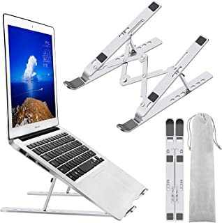 Metal Laptop Stand Holder Riser Computer Stand, Adjustable Aluminum Foldable Portable Notebook Stand, Compatible with All ...