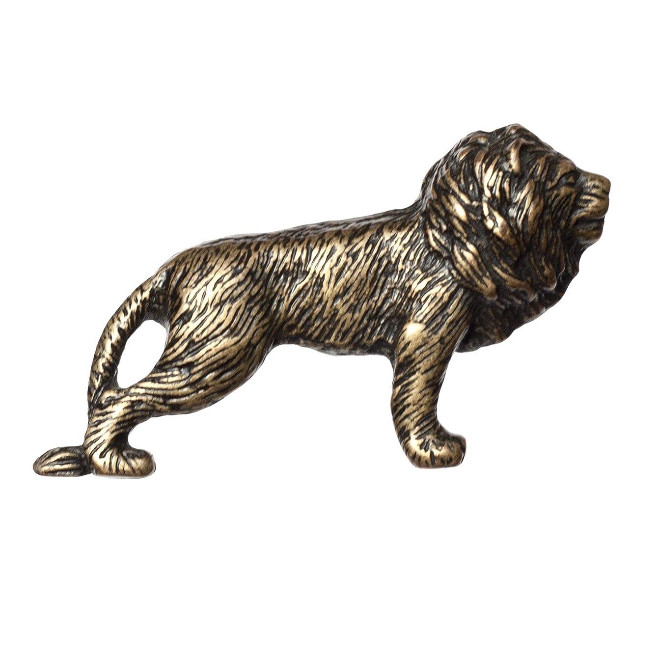 Big Sky Hardware Sierra Lifestyles Lion Knob, Antique Brass