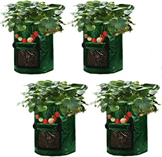 Asunflower 10 Gallon Potato Grow Bags, 4 Pack Garden Planting Bags Potatos Planter Tub with Access Flap for Harvesting,Veg...