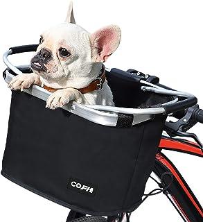 COFIT自転車バスケット、折りたたみカゴ 防水 取り付け簡単 脱着式多目的自転車用ハンドルカゴ ペット、ショッピング、通勤、キャンプ、アウトドア向け