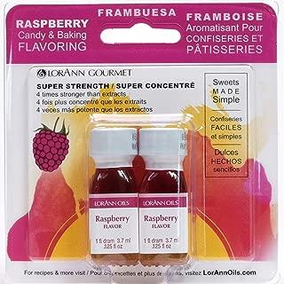 LorAnn Super Strength Raspberry Flavor, 1 dram bottle (.0125 fl oz - 3.7ml)- Twin pack blistered
