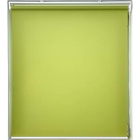 ロールスクリーン 非遮光 グリーン 幅30×丈180cm ロールカーテン 透過性 間仕切り 目隠し パーテーション 衝立 チェーン式 簡単取付け シンプル 既成品