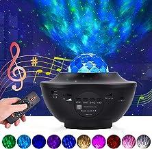 Star Projector Nachtlampje LED Sterrenhemel Projectielamp Ocean Wave Projector met Afstandsbediening 10 Kleuren Veranderen...