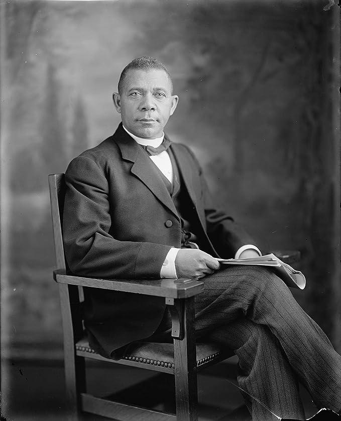 BOOKER T WASHINGTON SEATED PORTRAIT 8x10 SILVER HALIDE PHOTO PRINT